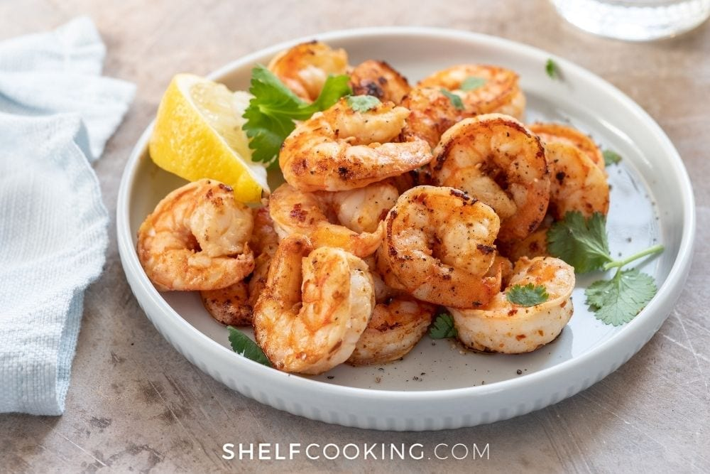 lemon garlic shrimp, from Shelf Cooking
