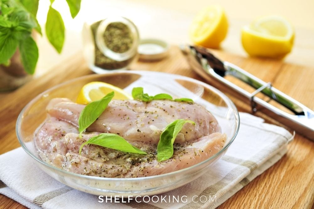 lemon and herb marinated chicken, from Shelf Cooking