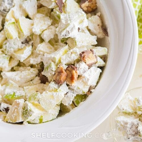 apple salad with snickers bars, from Shelf Cooking