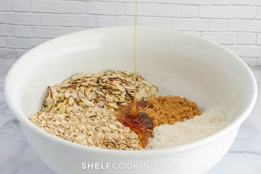 generic oatmeal, sugar, and spices, from Shelf Cooking
