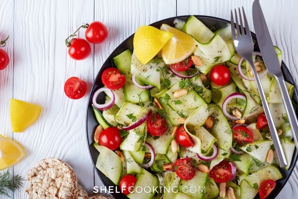 chilled zucchini salad, from Shelf Cooking