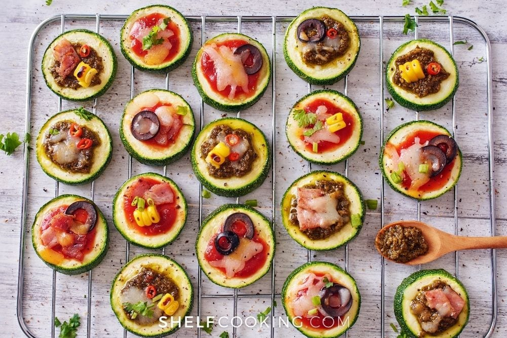 veggie pizza bites, from Shelf Cooking