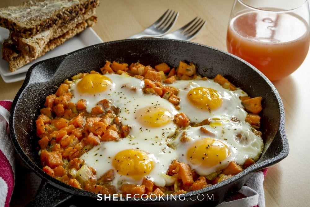 meatless sweet potato hash, from Shelf Cooking