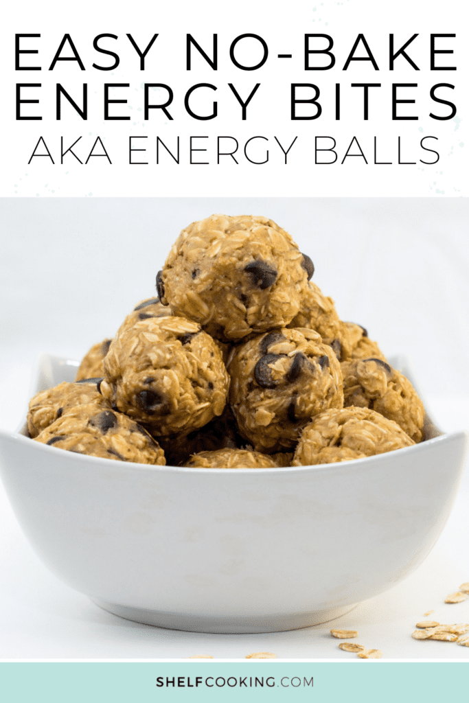 Energy balls in a bowl, from Shelf Cooking