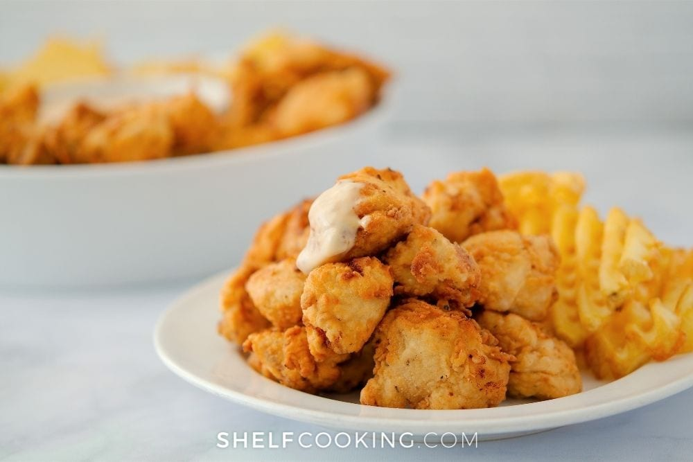 copycat Chick-fil-A nuggets for kids, from Shelf Cooking