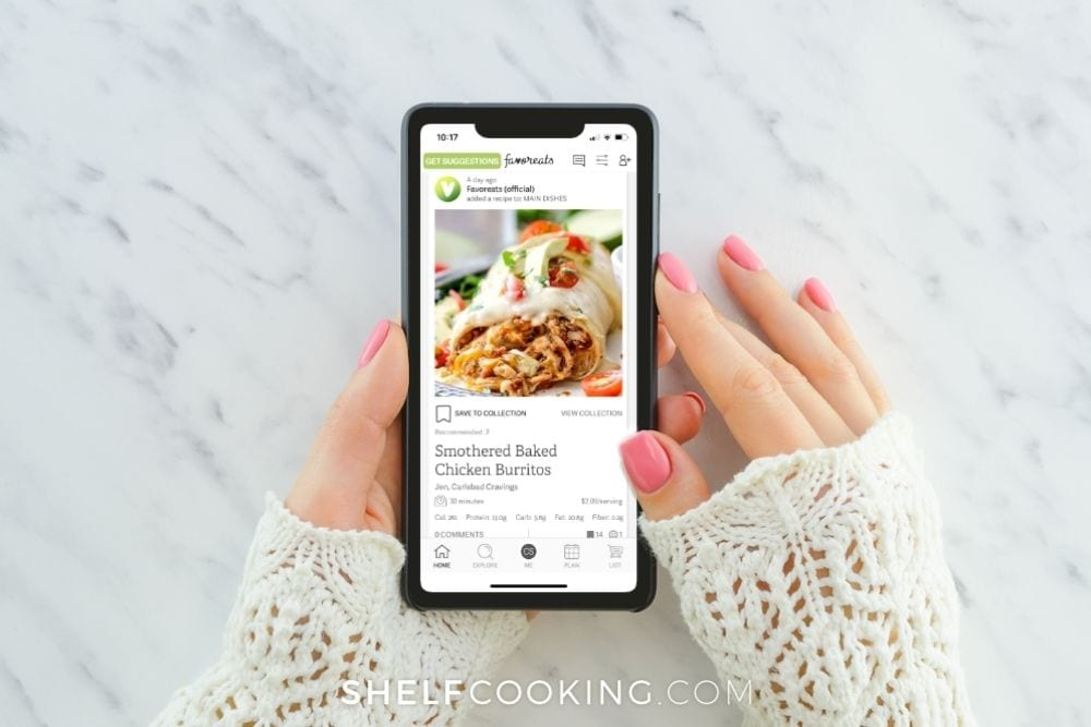 meal planning with favoreats app, from Shelf Cooking