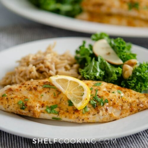homemade broiled parmesan tilapia, from Shelf Cooking