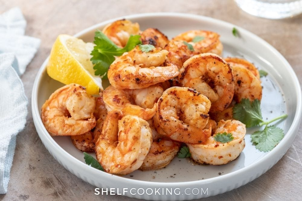 grilled marinated shrimp, from Shelf Cooking