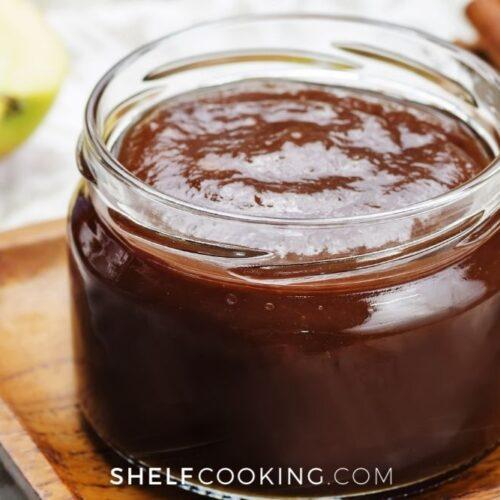 jar of homemade apple butter, from Shelf Cooking