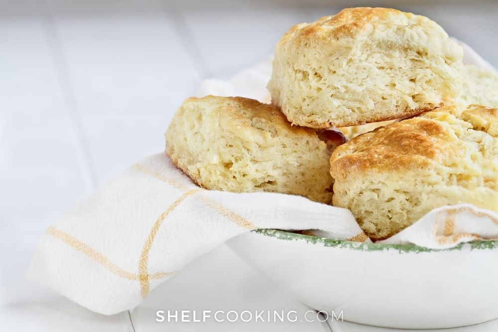 bowl of fresh biscuits, from Shelf Cooking