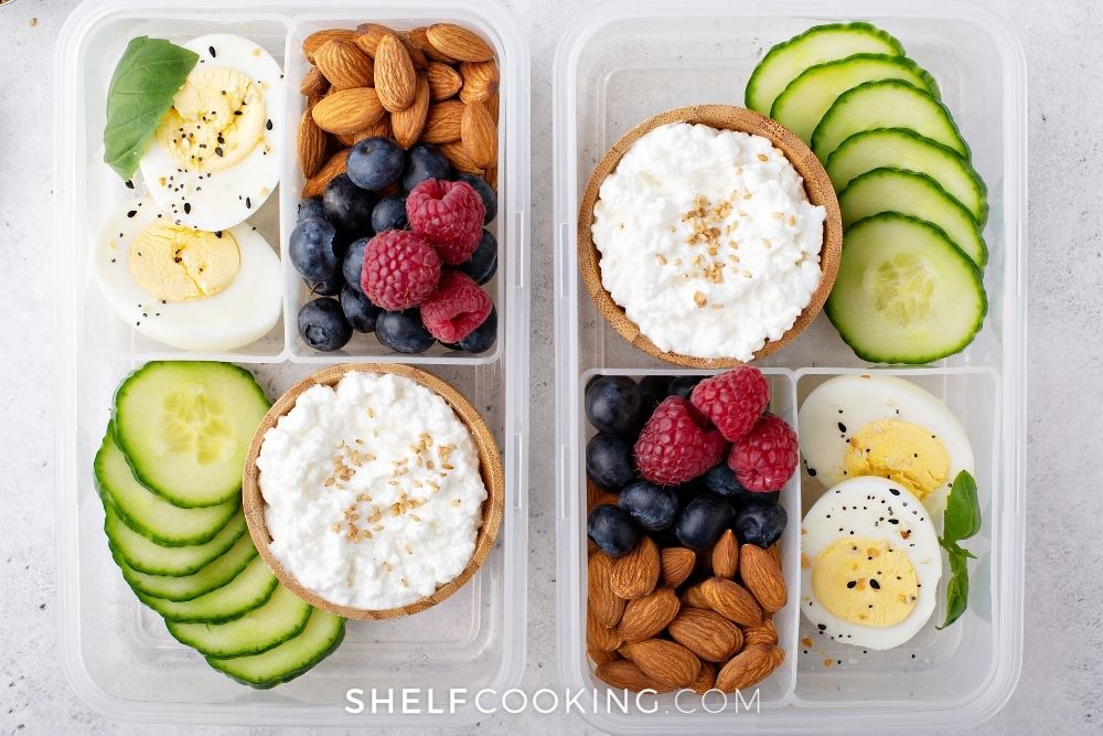 low-carb protein box for lunch, from Shelf Cooking